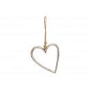 Metalowe serce srebrne (S / W / G) 15x18x1cm