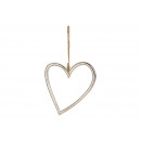Metalowe serce srebrne (szer./wys./gł.) 22x26x1cm