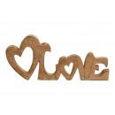 Espositore , Lettering, Love in legno di mango mar