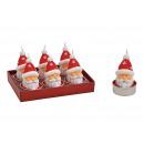 Set di candele Nikolaus 4x6x4cm in cera rossa 6er