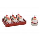Set di candele Nikolaus 4x5x4cm in cera rossa 6er
