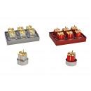 Confezione regalo set tealight 4x4x4cm in cera Ro