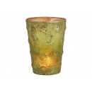 Decorazione stella lanterna in vetro verde (L / A