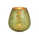 nagyker Gyertyák és gyertyatartók: Zöld üveglámpa (Szé / Ma / Mé) 11x14x11cm