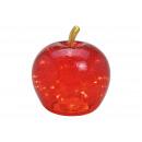 Apple con 30 LED, con timer, in vetro rosso (L / H