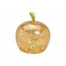 Apple con 40 LED, con timer, in vetro dorato (L /