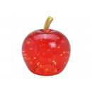 Apple con 40 LED, con timer, in vetro rosso (L / H