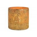 Lanterna in vetro dorato (L / A / P) 10x10x10cm