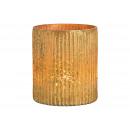 Lanterna in vetro dorato (L / H / P) 11x13x11cm
