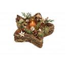 Gwiazda świecznika na tealighty, dekor świąteczny