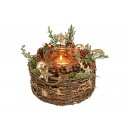 Portacandelina Decorazioni natalizie in legno, pla