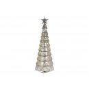Albero di Natale in vetro, metallo argento (L / H
