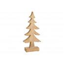 Albero di Natale in legno di mango marrone (L / H