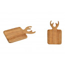 Piatto da portata testa di cervo in legno di mango