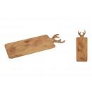 Planche de service tête de cerf en bois de manguie