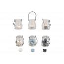 Lanterna con 5 tea light grigio, bianco, nero 4