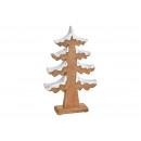 Jodła ze śniegiem wykonana z drewna brązowego (sze