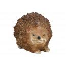 Hedgehog made of poly brown (W / H / D) 9x7x7cm