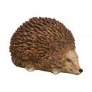 Hedgehog made of poly brown (W / H / D) 14x9x11cm
