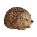 Hedgehog made of poly brown (W / H / D) 21x12x14cm