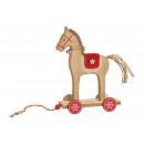 Espositore Cavallo in legno naturale, rosso (L / A