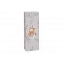 Torebka na butelkę w kolorze jelenia wykonana z pa