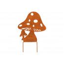 Plug mushroom, rusty Finish , made of metal brown