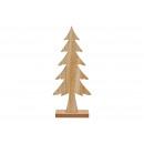 groothandel Home & Living: Kerstboom van hout naturel (B/H/D) 15x36x6cm