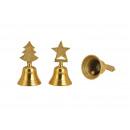 Campana, campana da tavolo, albero, stella, in met