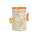 Dekor lampionowy motyl wykonany z metalu w kolorze