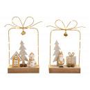 Espositore Pupazzo di neve regalo, decorazioni di