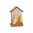Casa Natale, arredamento pupazzo di neve, con luci