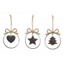 groothandel Woondecoratie: Kersthanger gemaakt van dennenboom, ster, ...