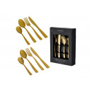 Cutlery set made of metal gold set of 16, (W / H /