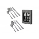 Cutlery set made of metal silver set of 16, (W / H