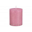 Candela luccicante Finish fatto di cera rosa / ros