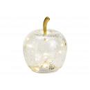 grossiste Jardin et bricolage: Apple avec 10 LED avec minuterie en verre transpar