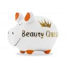 Salvadanaio in ceramica KCG maialino Beauty Queen