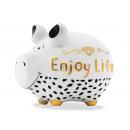 Salvadanaio KCG maialino Enjoy Life in ceramica W