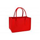 groothandel Woondecoratie: Vilten tas rood (B/H/D) 38x25x19cm