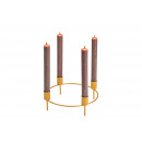 Candeliere, tappo a corona, per 4 candele in idrom