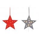 hurtownia Dekoracje: Gwiazda wieszaka z 12 diodami LED wykonana z filcu