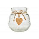 Lanterna in vetro trasparente (L / A / P) 12x14x12