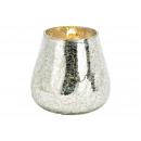 Lanterna in vetro argentato (L/A/P) 12x13x12cm