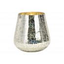 Lantern made of silver glass (W / H / D) 15x16x15c