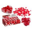 groothandel Drogisterij & Cosmetica: Badconfetti hartjes ca 20g in plastic doosje 15 st