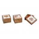 hurtownia Artykuly spozywcze & uzywki: Pudełko na biżuterię z drewna mango brązowego 3- r