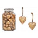 groothandel Woondecoratie: Mangohouten hart hanger (B / H / D) 5x5x3cm 60