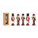 Schiaccianoci in legno colorato 4x (B / H / D) 8x2