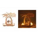 Großhandel Dekoration: Weihnachtspyramide Engel aus Holz (B/H/T) 14x11x8c